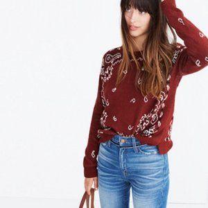 NWOT Madewell bandana paisley pullover